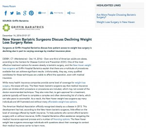 Griffin Hospital Bariatrics discusses patient access to weight loss surgery procedures.